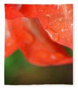 Rain Dance - Red Flower Photography By Sharon Cummings Fleece Blanket