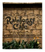 Rain Forest Cafe Signage Downtown Disneyland 01 Fleece Blanket