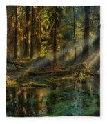 Rain Forest Sunbeams Fleece Blanket
