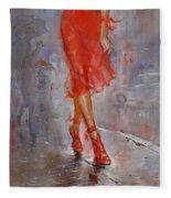 Rain In Manhattan Fleece Blanket