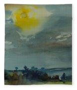 Rain In The Air, 1981 Wc On Paper Fleece Blanket