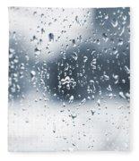 Rain In Winter Fleece Blanket
