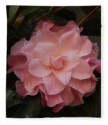 Rain Kissed Camellia Fleece Blanket