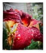 Rain Kissed Lilly Profile 2 Fleece Blanket