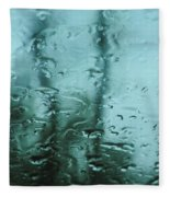 Rain On Bare Trees Fleece Blanket