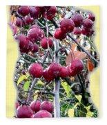 Rain On The Crab Apples Fleece Blanket