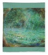 Rain On The Pond Fleece Blanket
