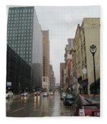 Rain On Water Street 2 Fleece Blanket