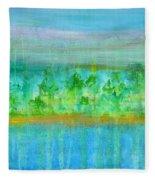Rain  Original Contemporary Acrylic Painting On Canvas Fleece Blanket