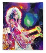 Rain Song Jimmy Page Fleece Blanket