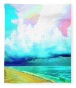 Rain Squall Na Pali Coast Fleece Blanket