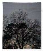 Rain Storm Clouds And Trees Fleece Blanket
