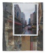 Rain Wisconcin Ave Tall View Fleece Blanket
