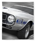 Rain Won't Spoil My Fun - 1969 Shelby Gt500 Mustang Fleece Blanket
