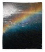 Rainbow At Waterfall Base Fleece Blanket