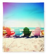 Rainbow Beach Photography Light Leaks2 Fleece Blanket