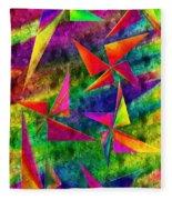 Rainbow Bliss - Pin Wheels - Painterly - Abstract - V Fleece Blanket
