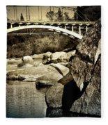 Rainbow Bridge In Folsom Ca Fleece Blanket