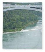 Rainbow Bridge Over Niagara Fleece Blanket