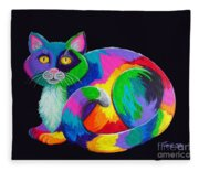 Rainbow Calico Fleece Blanket