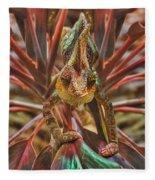 Rainbow Chameleon Fleece Blanket