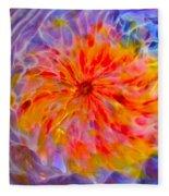 Rainbow Coronal Fleece Blanket