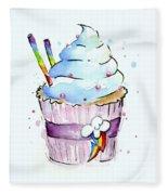 Rainbow-dash-themed Cupcake Fleece Blanket