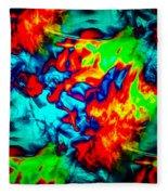 Rainbow Dye Fleece Blanket