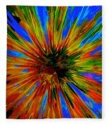 Rainbow Exuberance Fleece Blanket