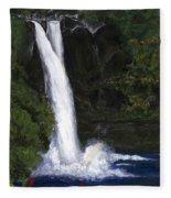 Rainbow Falls Hilo Hawaii Fleece Blanket