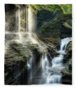Rainbow Falls Square Fleece Blanket