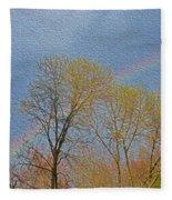Rainbow In Spring Fleece Blanket
