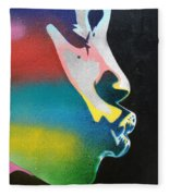 Rainbow Kiss Fleece Blanket