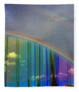 Rainbow Landscape Fleece Blanket