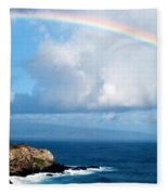Rainbow Maui Hawaii Fleece Blanket