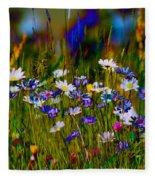 Rainbow Meadow Fleece Blanket