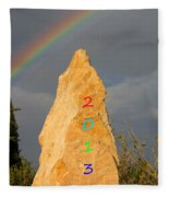 Rainbow New Year 2013 Fleece Blanket