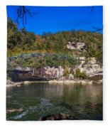 Rainbow On The River Fleece Blanket