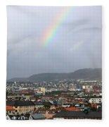 Rainbow Over Oslo Fleece Blanket