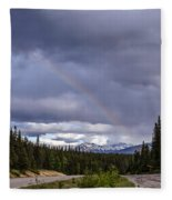 Rainbow Over The Mountains Fleece Blanket