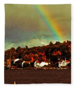 Rainbow Over Winnipesaukee Two Fleece Blanket