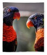 Rainbow Parrot Fleece Blanket