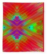 Rainbow Passion Abstract 2 Fleece Blanket