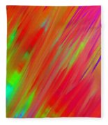 Rainbow Passion Abstract Upper Right Fleece Blanket