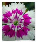 Rainbow Pink Flower Fleece Blanket
