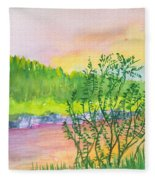 Rainbow River Fleece Blanket