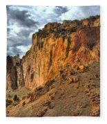 Rainbow Rocks And A River Fleece Blanket