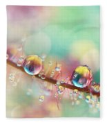 Rainbow Smoke Drops Fleece Blanket