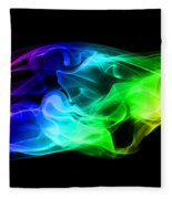 Rainbow Smoke Fleece Blanket