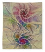Rainbow Spirals Fleece Blanket